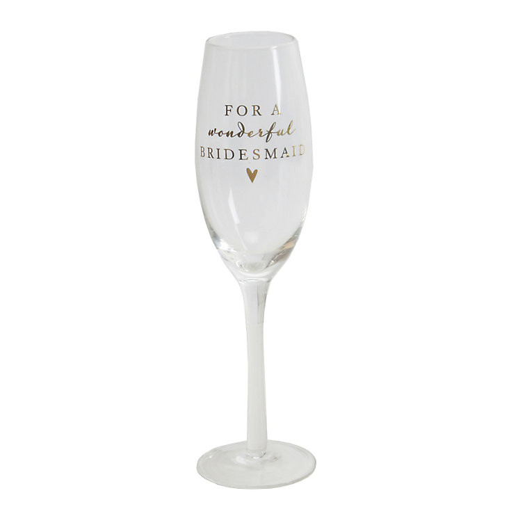 Amore Bridesmaid Champagne Glass Flute - Product number 5236479