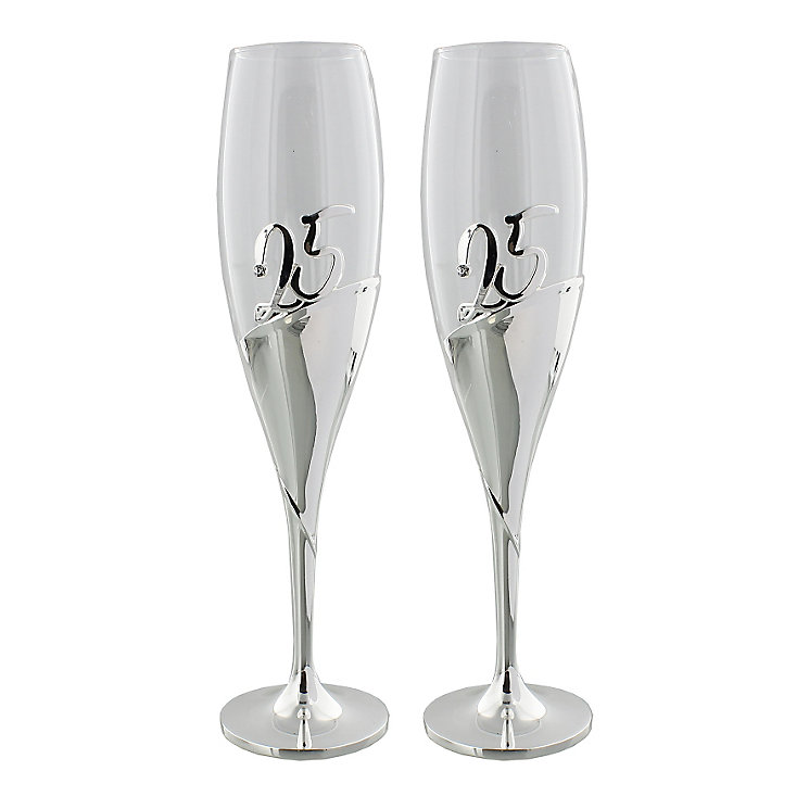 Amore 25th Anniversary Champagne Flutes - Product number 5236576