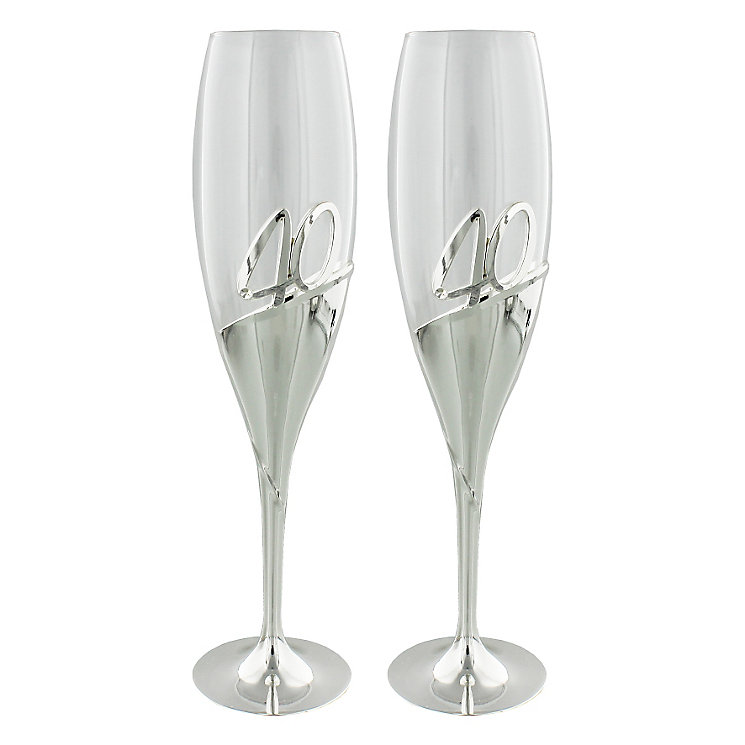 Amore 40th Anniversary Champagne Flutes - Product number 5236606