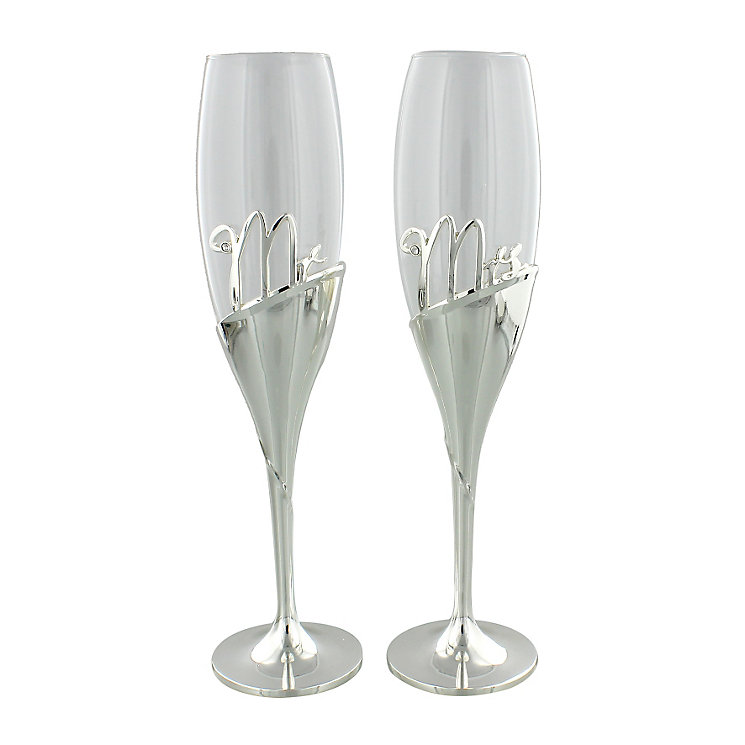 Amore Mr & Mrs Champagne Flutes - Product number 5236703