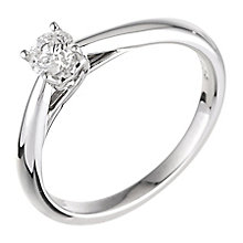 9ct white gold 0.33ct diamond solitaire ring - Product number 5238250