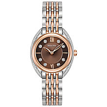 Bulova Diamonds Ladies' Two Colour Stone Set Bracelet Watch - Product number 5239842