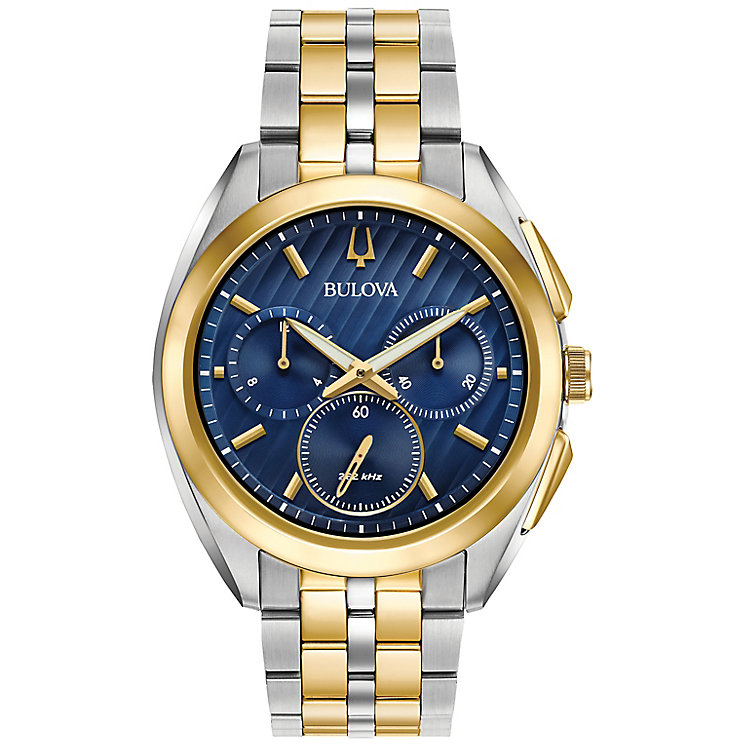 Bulova Curv Men's Chronograph Two Colour Bracelet Watch - Product number 5239931