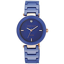 Anne Klein Ladies' Diamond Set Blue Ceramic Bracelet Watch - Product number 5240018