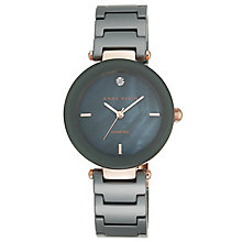 Anne Klein Ladies' Diamond Set Grey Ceramic Bracelet Watch - Product number 5240026