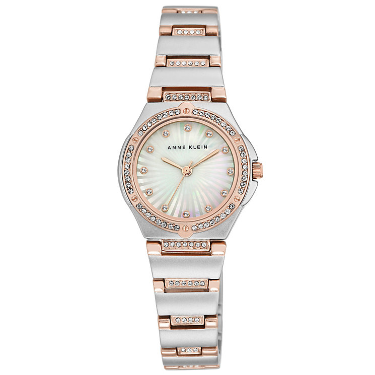 Anne Klein Silver and Rose Gold Tone Bracelet Watch - Product number 5240093
