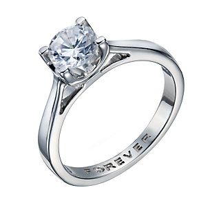 The Forever Diamond Platinum 1 Carat Diamond Solitaire Ring - Product number 5240719