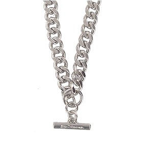 Polished Curb T-Bar Necklace