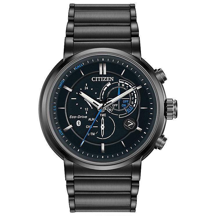 Citizen Eco-Drive Proximity Men's Black Steel Bracelet Watch - Product number 5241812