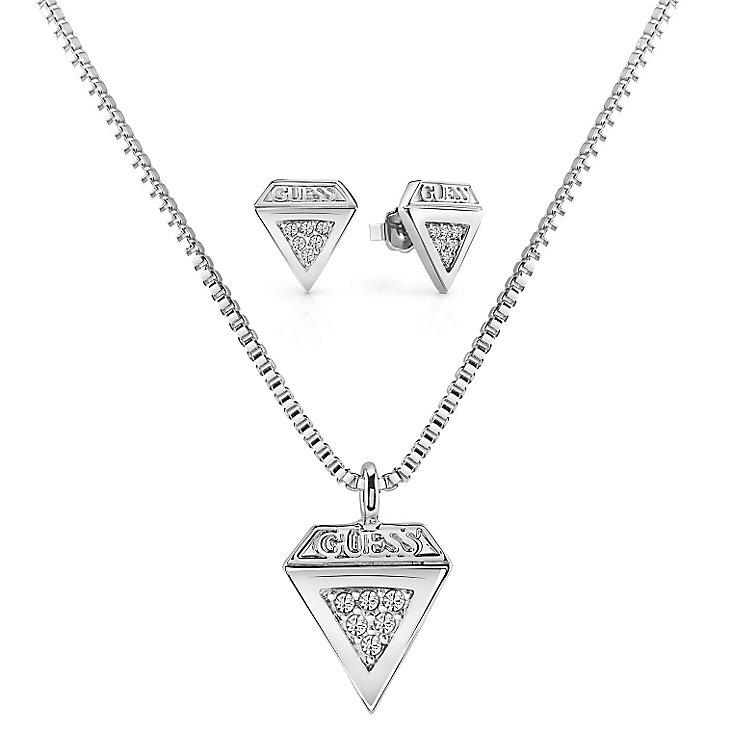 Guess Ladies' Swarovski Crystal Diamond Shaped Box Set - Product number 5241820