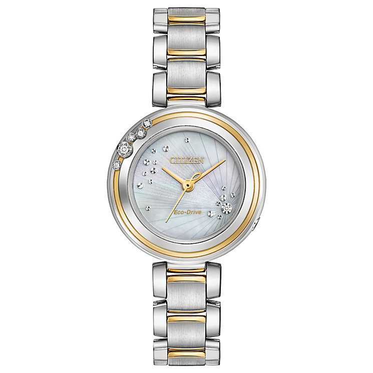 Citizen Eco-Drive L Carina Ladies' 2 Colour Bracelet Watch - Product number 5241855