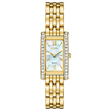 Citizen Eco-Drive Ladies' Gold-Plated Bracelet Watch - Product number 5241898