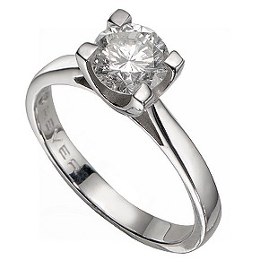 18ct White Gold 1 Carat Forever Diamonds Ring