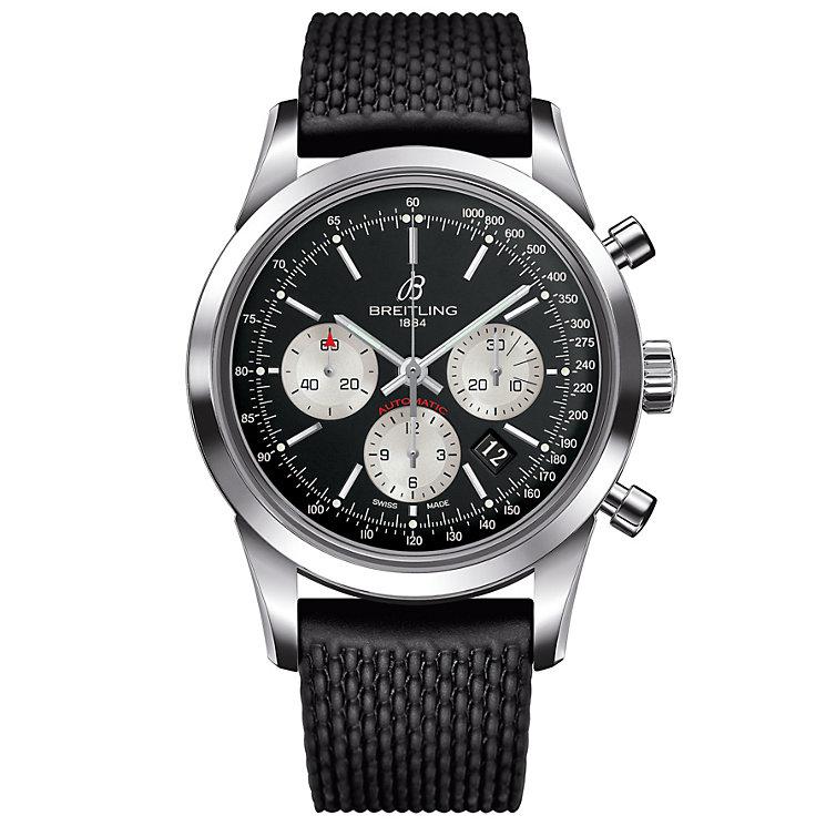 Breitling Transocean Men's Stainless Steel Strap Watch
