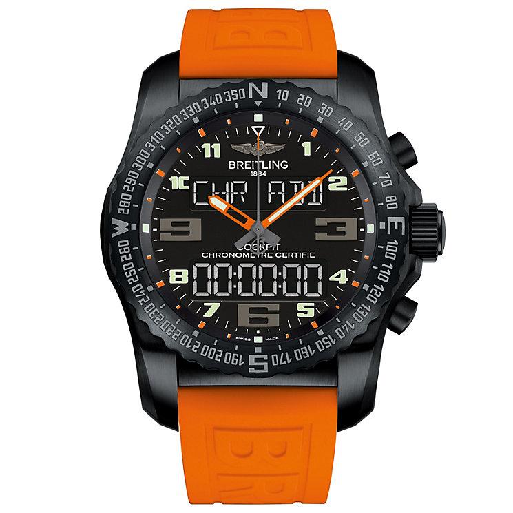 Breitling Cockpit B50 Men's Black Titanium Strap Watch