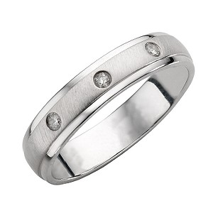 9ct White Gold And Diamond Wedding Ring
