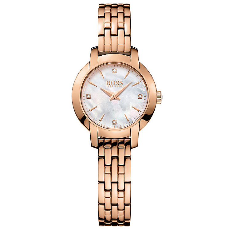 Hugo Boss Ladies' Rose Gold Plated Bracelet Watch - Product number 5245354