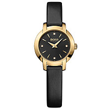 Hugo Boss Ladies' Gold Plated Strap Watch - Product number 5245370