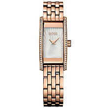 Hugo Boss Ladies' Rose Gold Plated Stone Set Bracelet Watch - Product number 5245397