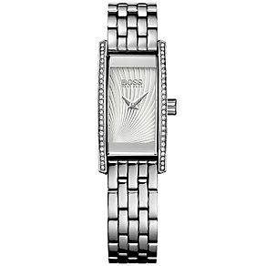 Hugo Boss Ladies' Stainless Steel Stone Set Bracelet Watch - Product number 5245419