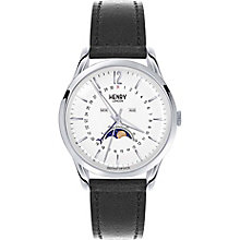 Henry London Edgware Men's Black Leather Strap Watch - Product number 5247578