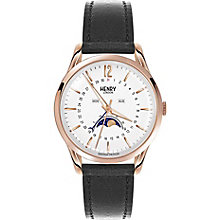 Henry London Richmond Men's Black Leather Strap Watch - Product number 5247594
