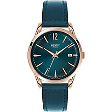 Henry London Chiswick Men's Green Leather Strap Watch - Product number 5247829