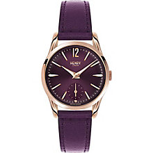 Henry London Ladies' Purple Leather Strap Watch - Product number 5247942