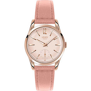 Henry London Ladies' Rose Gold Tone Nude Leather Strap Watch - Product number 5247950