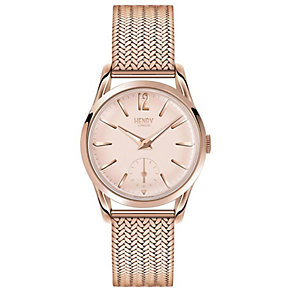 Henry London Ladies' Rose Gold-Plated Mesh Bracelet Watch - Product number 5247969