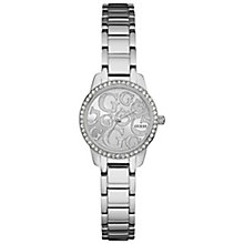 Guess Ladies' Stone Set Stainless Steel Bracelet Watch - Product number 5248507
