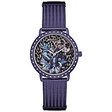 Guess Ladies' Purple Stainless Steel Mesh Bracelet Watch - Product number 5248590