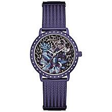Guess Ladies' Purple Stainless Steel Mesh Bracelet Watch - Product number 5248590