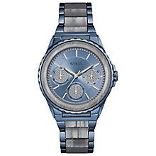 Guess Ladies' Blue Stainless Steel & Resin Bracelet Watch - Product number 5248612