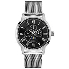 Guess Men's Black Dial Stainless Steel Mesh Bracelet Watch - Product number 5248663