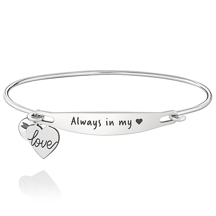 Chamila Sterling Silver Always In My Heart ID Bangle S/M - Product number 5252385