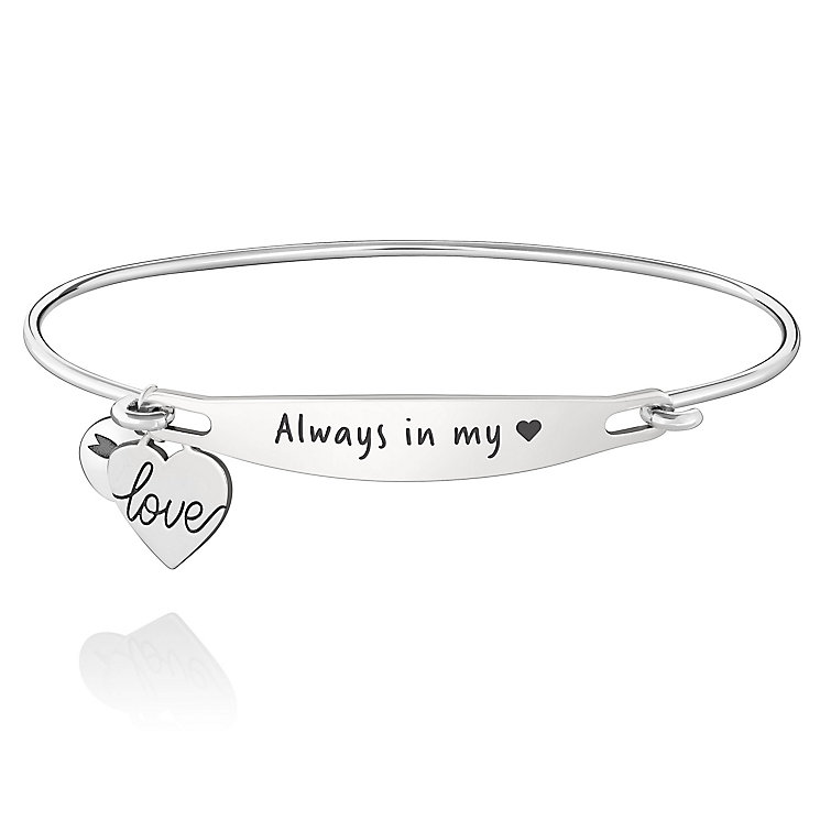 Chamila Sterling Silver Always In My Heart ID Bangle M/L - Product number 5252393