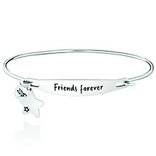 Chamila Sterling Silver Friends Forever ID Bangle S/M - Product number 5252482