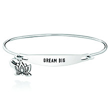 Chamila Sterling Silver Dream Big ID Bangle S/M - Product number 5252520