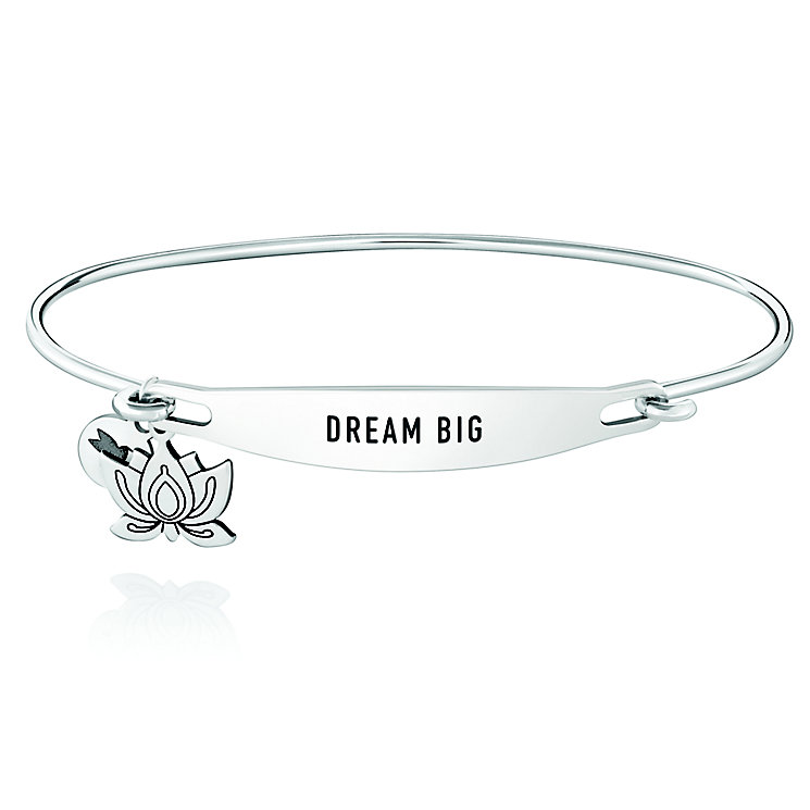 Chamila Sterling Silver Dream Big ID Bangle M/L - Product number 5252539