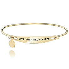 Chamila Gold-Plated Live With All Your Heart ID Bangle S/M - Product number 5252563
