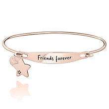 Chamila Rose Gold-Plated Friends Forever ID Bangle M/L - Product number 5252601