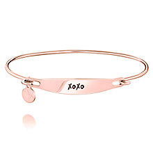 Chamila Rose Gold-Plated XOXO ID Bangle S/M - Product number 5252628