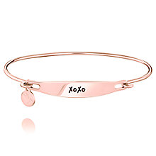 Chamila Rose Gold-Plated XOXO ID Bangle M/L - Product number 5252636