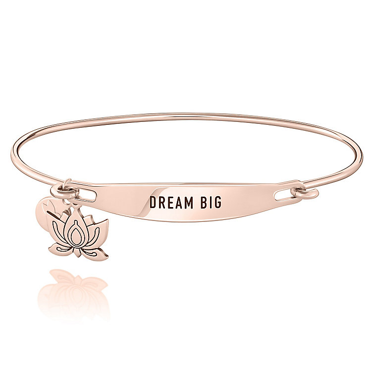 Chamila Rose Gold-Plated Dream Big ID Bangle S/M - Product number 5252644