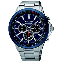 Seiko Solar Men's Chronograph Stainless Steel Bracelet Watch - Product number 5252911