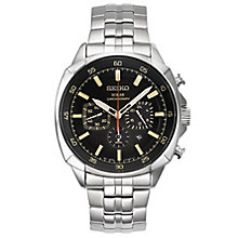 Seiko Solar Men's Chronograph Stainless Steel Bracelet Watch - Product number 5252938