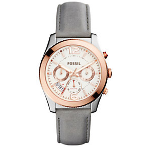Fossil Perfect Boyfriend Ladies' Iron Leather Strap Watch - Product number 5253713