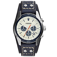 Fossil Coachman Men's Blue Leather Strap Watch - Product number 5253721