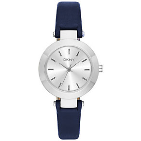 DKNY Ladies' Blue Leather Strap Watch - Product number 5253764